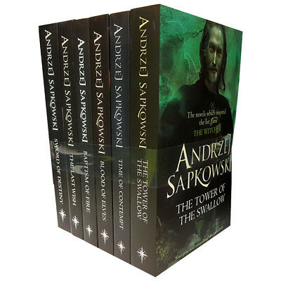 Witcher Series Collection By Andrzej Sapkowski 6 Books Set Blood of Elves NEW