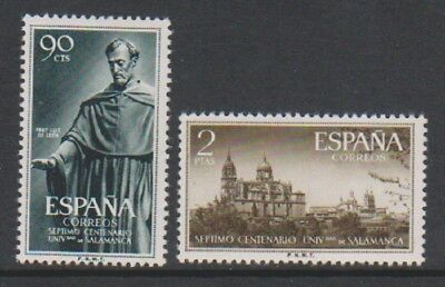 Spain - 1953, 90c & 2p Stamp Day & University stamps - MNH - SG 1189/90
