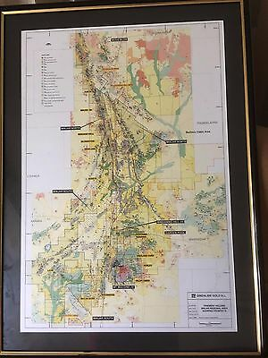 west aust $ reduced $ YALGOO GOLD FIELD MAP MINJAR HUGE