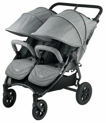 Valco Baby Neo Twin Lightweight All Terrain Twin Baby Double Stroller Grey Marle