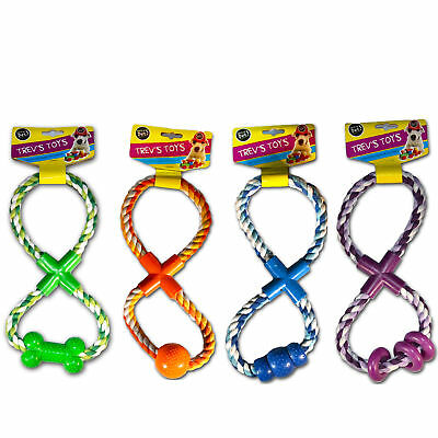 """Trev's Toys"" Figure of 8 Playtime Rope Tugger Toy for Dogs by World of Pets"