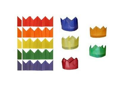 100 Cracker Hats - Assorted Colours - Christmas Tissue Paper Birthday Xmas