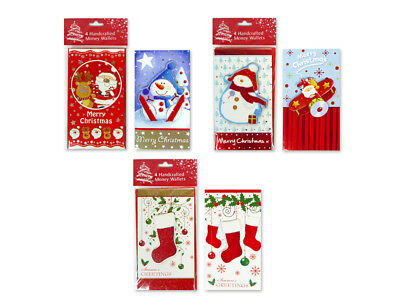 Christmas Money Wallet Pack of 8 Hand Crafted Gift Cards Festive Designs Xmas