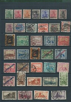 Germany France SAAR nice card of 37 different very old used stamps