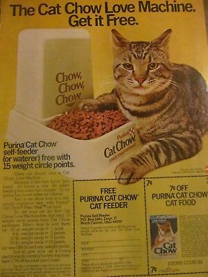 Purina Cat Chow, Full Page Vintage Print Ad