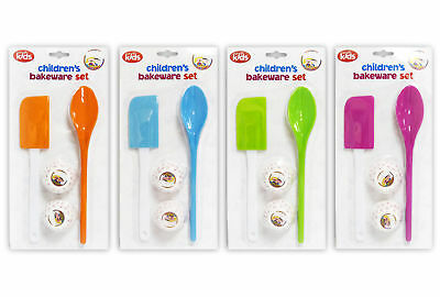 Childrens Baking Set Spatula Spoon & Cupcake Cases Decorating Kitchen Utensils
