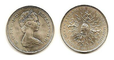"Great Britain 1980 Crown ""queen Mothr 80 B.day"" 1023 Low Price & $1.00 Usa Ship"