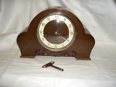 Vintage Art Deco Hamburg American Clock Co Westminster/whittington Chimes Clock