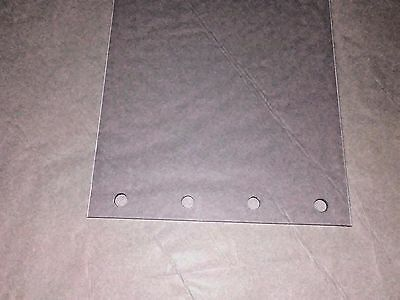 """3) CLEAR PLASTIC~VINYL PERFORATED DOOR STRIP CURTAIN  8"""" wide x 27"""" x 80mil"""