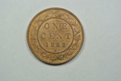 1882-H Canada Large One, 1 Cent, AU Condition - C4093