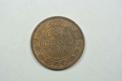1888 Canada Large One, 1 Cent, AU Condition - C4094