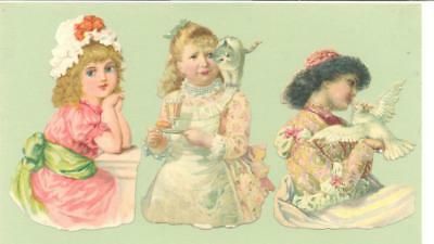 Victorian Die Cut Scraps, Pretty Girls.   R14a