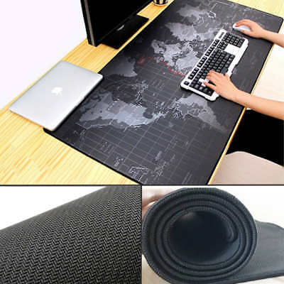90cm x 40cm Gamer Mouse Pad XXL Size Soft Keyboard Laptop Mat Waterproof Surface