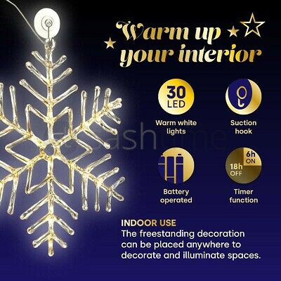 Christmas Multi Coloured Led Rope Silhouette Lights Window Decoration Xmas Home