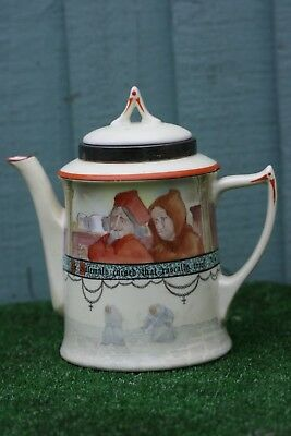 SUPERB ROYAL DOULTON SERIES WARE TEAPOT WITH JACKDAW OF RHEIMS DECORATION c1905