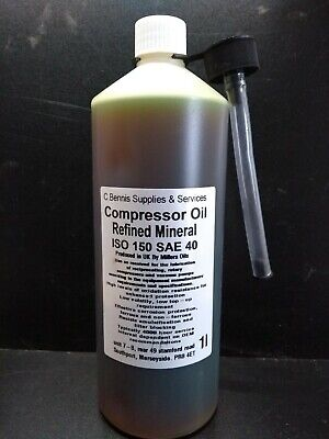 1L  Premium Piston / Rotary Air Compressor / Vacuum Pump Oil ISO 150 SAE 40 OIL
