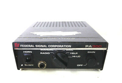Federal Signal PA300 Electronic Siren Control 12V / 12 Volt Unit