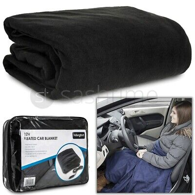 New 12V Large Electric Heated Car Van Truck Fleece Cosy Warm Blanket Travel Dc