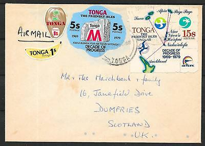 Tonga covers 1979 Airmailcover to Dumfries