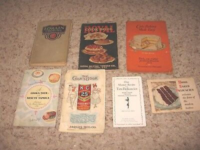 Vintage Lot Of 7 Cookbooks & Advertising Booklets~~1920's~~Accept To Good Cond