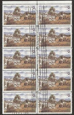 Stamps Canada # 601, $2, 1977, 1 block of 10 used stamps.