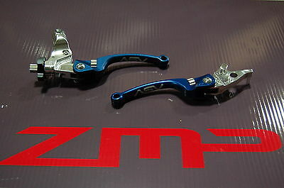 Yamaha Raptor 660 01 - 05 C6 Asv Clutch And Brake Levers Blue Pair Pack
