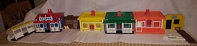 Vintage Collection Of Plastic Toy Wild West Buildings/Town Timpo/Britains/Grace