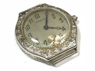Antique VTG 14K Gold Filled WALTHAM Ornate Ladies Womens Mechanical Wirstwatch