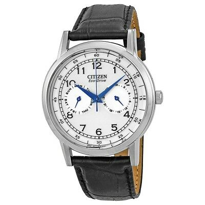 AO9000-06B Casual White Dial Black Leather Strap Men's Watch