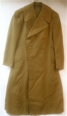 WWII US Army Officer's Doeskin Wool Over Coat Great Coat