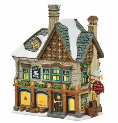 Department 56 Dickens Village The Swan and Trumpet Pub Lighted Building 4054962