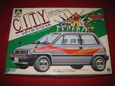 Vintage Aoshima Honda City 1/24 Model Kit + Motocompo Bike Japan MIB Rare