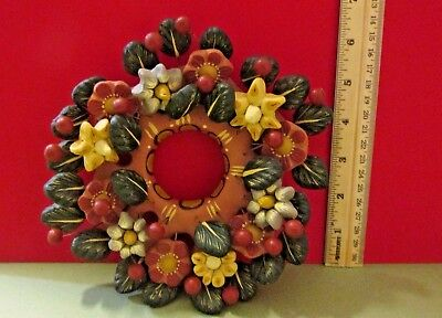 """BEAUTIFUL VINTAGE METEPEC MEXICAN WREATH POTTERY CERAMIC approximately 6"""" X 6"""""""