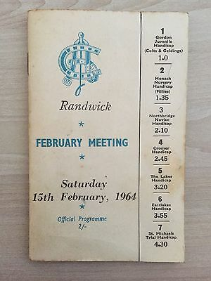 1964 Randwick February meeting Race Book
