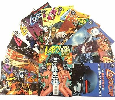 Lobo Comic Book Lot 14 Issues DC VF NM Limited Series One Shots Judge Dredd