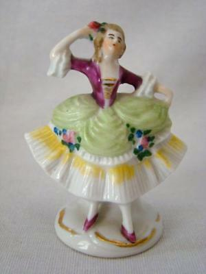 Charming Vintage Miniature Hand Painted Porcelain French Lady Figurine, Germany