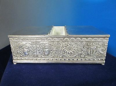ASSYRIAN HEAD Humidor 1886 Rogers & Smith Silverplate Seldom Seen!