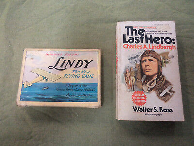 #cc9.  1927 Charles A. Lindbergh Flying Card Game - Parker Brothers