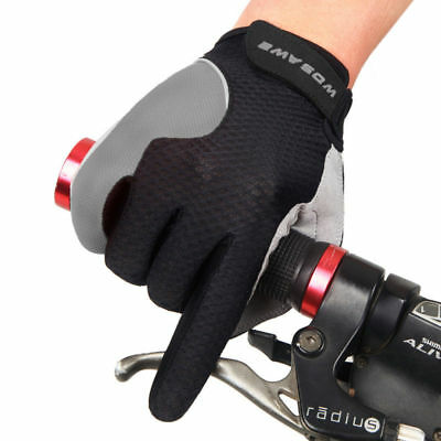 Unisex Cycling Full Finger Gloves Bike Bicycle MTB Gloves Touch Screen Padded