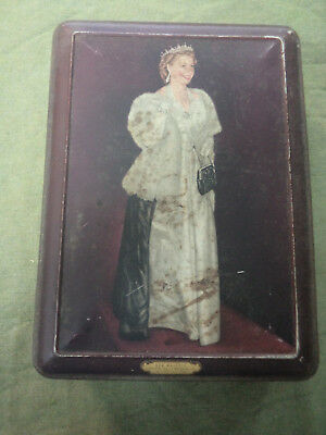 #cc9.  1953 Queen Elizabeth Ii Coronation Tin - Peek Frean Biscuits