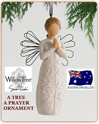 A TREE A PRAYER ANGEL ORNAMENT Willow Tree Figurine By Susan Demdaco Lordi NEW