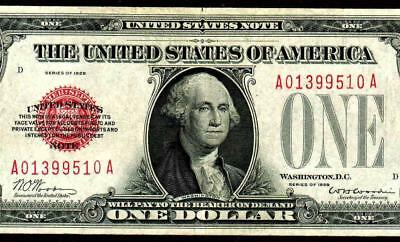 $1 1928 (( RED SEAL )) United States Note ** MORE CURRENCY FOR SALE **
