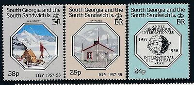 1987 South Georgia Geo Physical Year Set Of 3 Fine Mint Mnh