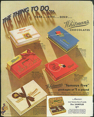 The Thing to Do: Take, Give Send Whitman's Chocolates ad 1935