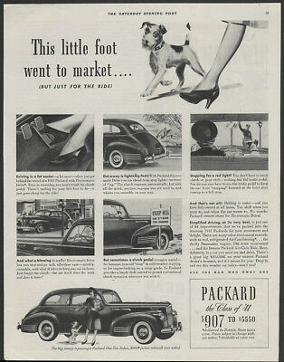 This little foot went to market Packard One-Ten Sedan ad 1941