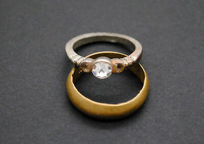 Post Medieval period rings with gemstone 4gr 18-19 century