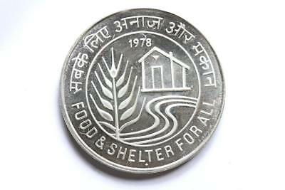 FAO / F.A.O. India 50 Rupees 1978  - uncirculated - silver