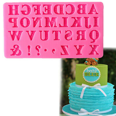 Alphabet Number Letters Bking Mold Tool Silicone Fondant Cake Mould Decorations