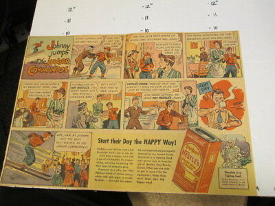 newspaper ad 1940s WWII Nestle's HOT COCOA drink mix comic JR Commandos