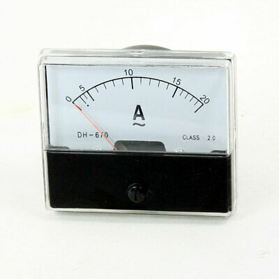 Screw Mounted Analog AC 0-20A Scale Range Ampere Ammeter Panel Meter